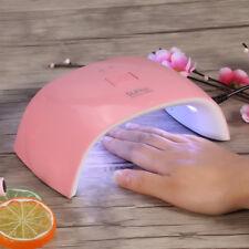 10 Styles Manicure UV Nail Lamp 18w LED GEL Polish Curing Double Light Dryer D8 Pink EU Plug
