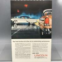 Vintage Magazine Ad Print Design Advertising Lincoln Automobiles