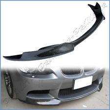 3K Carbon Fiber V Look Add On Front Lip Fit 2008-2013 BMW E90 E92 E93 M3 Bumper