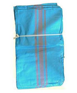 Säck 100 St  Schwerlastsack Gewebesäcke 65 x 110 cm Sandsack Getreidesack blau