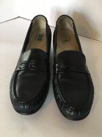 SAS Tripad Comfort Women's Size 8.5 S Black Leather Wedge Dress Loafer Shoes