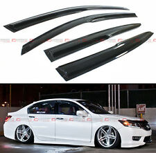 JDM WAVY STYLE SMOKE WINDOW VISOR RAIN SUN VENT SHADE FOR 2013-2017 9TH 3b874dd5aed