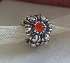 New Authentic Pandora Birthday Blooms July Carnelian bead charm  790580CAR