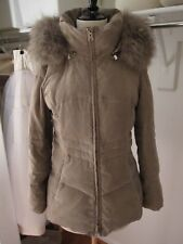 MAX MARA STUDIO down coat with fur trim