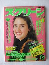 JENNIFER CONNELLY, BROOKE SHIELDS, DIANE LANE in Jun 1987 Japanese Screen mag NM