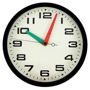 New 35 cm Large Wall Clock Black Steel Modern Designer Home Decor Silent Quartz
