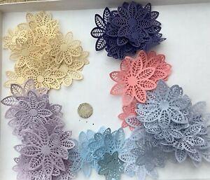 100 Die Cut Paper Flowers
