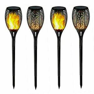 Solar Garden Flame Light Flickering LED Torch Lamp Outdoor Waterproof new