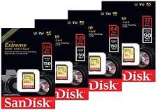 SanDisk Extreme 32GB SDHC 64GB 128GB 256GB SDXC 150MB/s UHS-I U3 Flash Card LOT