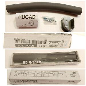 "IKEA Hugad 10"" Curtain Rod Corner Wall Mount #602.199.20 Gray  Free Shipping"