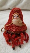 Antique German Santa Claus Bell Christmas Ornament