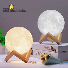 3D Printing LED Luna Night Light Moon Lamp Touch Control USB Charging Gift A3US