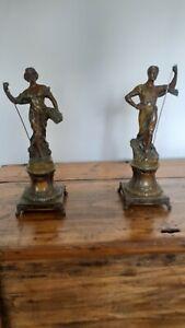 Statues en régule type art nouveau La moisson de Rucho