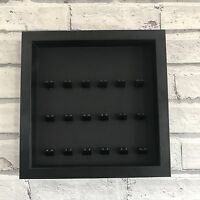 LEGO Mini Figures Display Case Frame Black on Black Brick