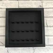 LEGO Mini Figures Display Case Frame Black on Black Brick