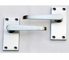 EURO VIC STRAIGHT LEVER HANDLE WITH LATCH & HINGES - SATIN NICKEL FINISH - NEW