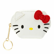 Hello Kitty Sanrio Face Shaped Mini Pouch Coin Bag Purse Key Case w/tracking no.