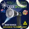 SPOT LIGHT LASER HAND HELD FLASHLIGHT HUNTING PHAZER LONG RANGE 8KM RECHARGEABLE