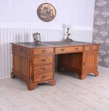 Büro Schreibtisch antik Stil massives Holz XXL Schreibpult Computertisch vintage