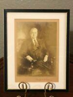Herbert Hoover US President Secretary Of Commerce Signed Autograph Framed Photo