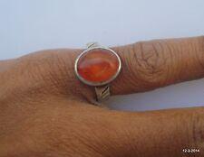 vintage antique tribal old silver ring carnelian gemstone ring handmade