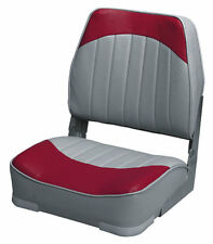 Wise Seating Low Back Boat Seat- Gray/Red