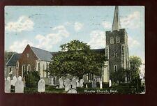 Kent DEAL Minster Church 1911 PPC