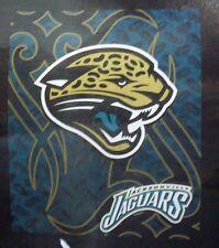 "NCAA Jacksonville Jaguars Plush 50"" by 80"" Raschel Blanket Tattoo Design"