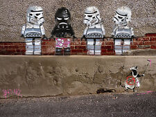 street art print  star wars storm trooper  CANVAS LEGO 70cm x 50cm