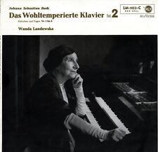 LANDOWSKA Harpsichord BACH Well Tempered Piano WTK Vol.II (1-8) RCA LM-1152 NM