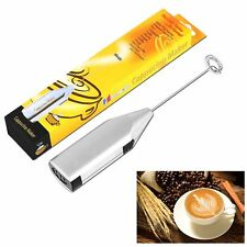 Electric Cordless Milk Frother Handheld Coffee Foamer Cappuchino Latte Mixer ESD