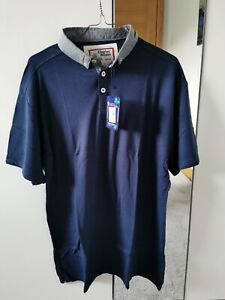 BNWT Charles Wilson Men's Polo T Shirt M 100% Cotton Navy £14.95