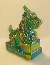 J B Scottie Dog Meadow Green Carnival Glass Scottish Terrier Scotty Dog by Boyd