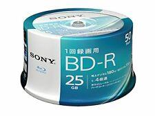 50 Sony Bluray Discs BD-R DVD HD 4X Speed Inkjet Printable 25GB from Japan*