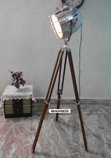 Antique Style Vintage Old Century Modern Spotlight Lamp Timber Tripod Royal Deco