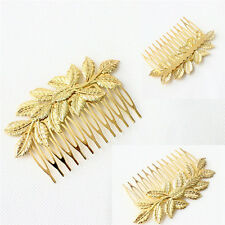 1x Women Hair Clips Hair Comb Hairpin Alloy Leaves Elegant Headband  Hot EP