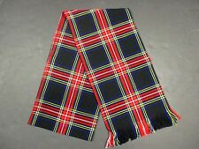 "New With Defect! Ladies or Mens Black Stewart Tartan Sash  88"" X 11"""