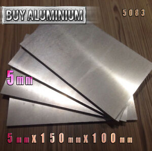 5mm Aluminium Plates 150mm x 100mm - 5083