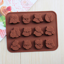 3D Silicone Mold Owl Chocolate Candy Mould Soap Wax Melt Ice Tray Cube Mold DIY