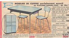 Publicité 1964 - Mobilier de cuisine FORMICA