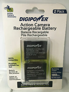 DigiPower 2 x Rechargeable battery's for GoPro HERO4