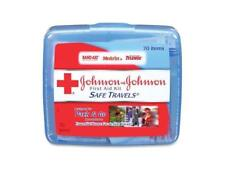 Johnson & Johnson Red Cross 8274 Portable Travel First Aid Kit, 70 Pieces, Plast