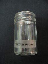 Vacuum Pump Oiler Replacement Glass Jar - fits ANY Standard Whipmix Dental Mixer