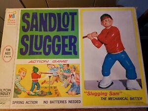 SANDLOT SLUGGER Action Board Game 1968 Milton Bradley COMPLETE vintage baseball