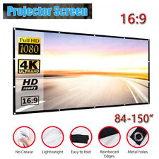 Foldable Projector Screen 16:9 Home Cinema Theater Outdoor 3D Projection AU