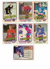 1981-82 OPC NHL Hockey lot - pick only the cards you need - 2 for $1