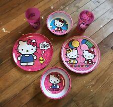 Double Set Of San Rio Hello Kitty Dinnerware