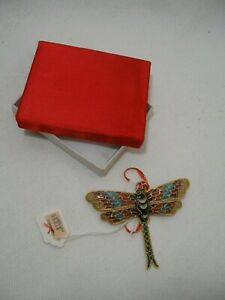 Dragonfly Dragonflies Hanging Ornament Brass with Enamel Finish High Quality New