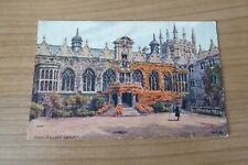 Oriel College Oxford from A R Quinton Watercolour Salmons Postcard