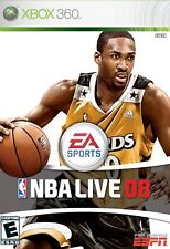 XBOX 360 NBA Live 08 Video Game Online Basketball Tournament Multiplayer 2008
